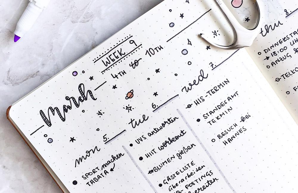 Wie du mit deinem Bullet Journal startest