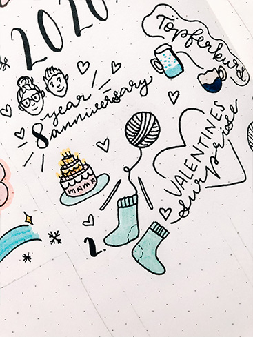 Farbe ergänzen - Memories Page - Bullet Journal