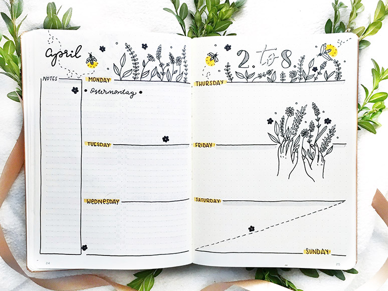 Kreative Übersicht - Bullet Journal
